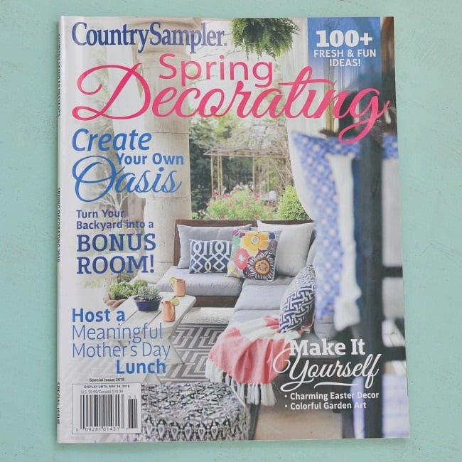 Spring decorating country sampler magazine feature for Spring cottage magazine