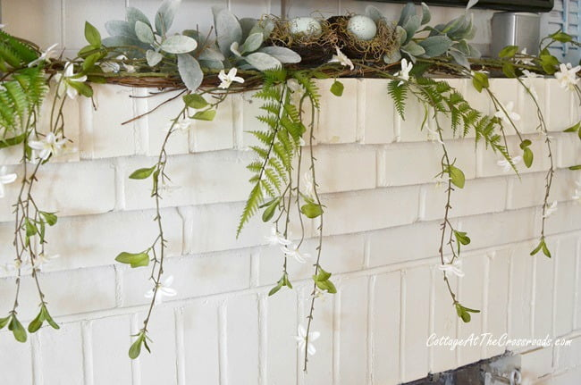 early spring mantel decorations