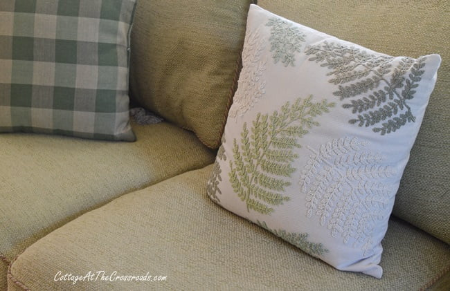 fern pillow on a spring tour