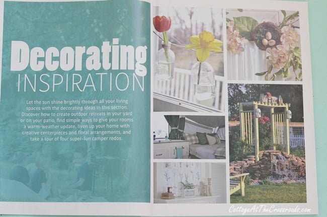 pages from the Country Sampler Spring Decorating magazine