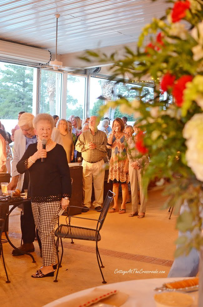 Ann Warr, honoree at Civitan golf benefit party