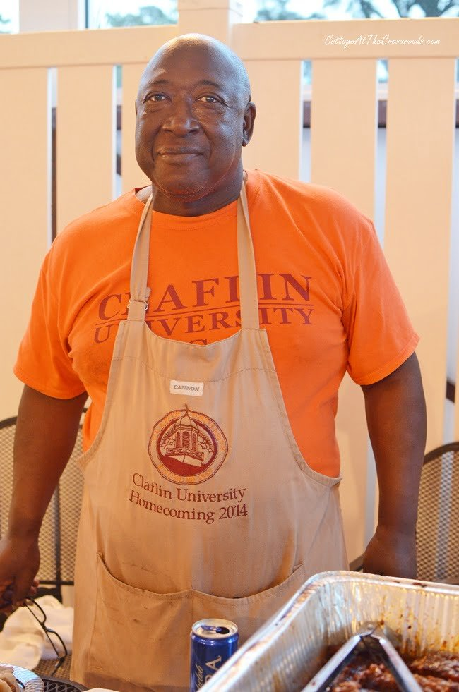 a cook at the Civitan party