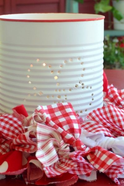 DIY Punched Tin Can Lanterns