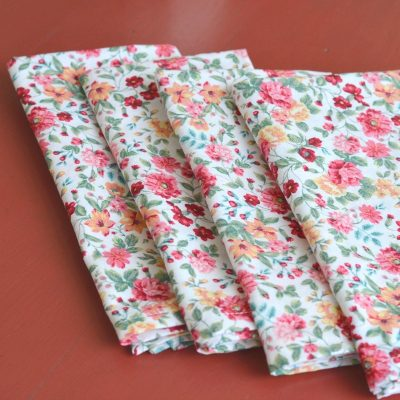 Thrifty Cloth Napkins with Mitered Corners