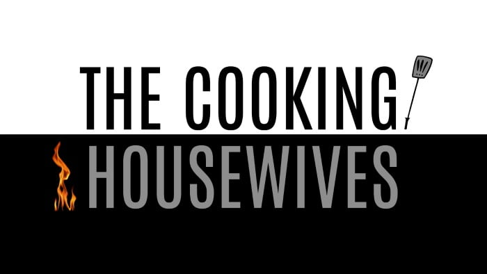 Graphic with the text The Cooking Housewives
