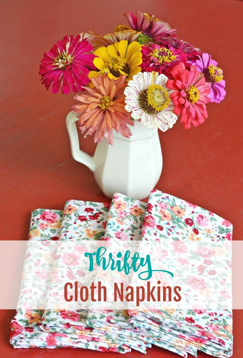 Thrifty Cloth Napkins with Pretty Mitered Corners