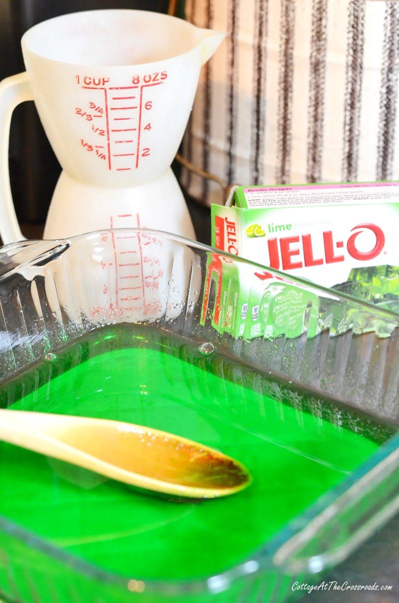 lime jello used in making a congealed cucumber salad