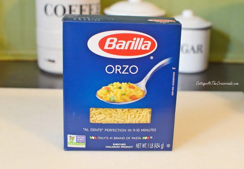 a box of orzo pasta