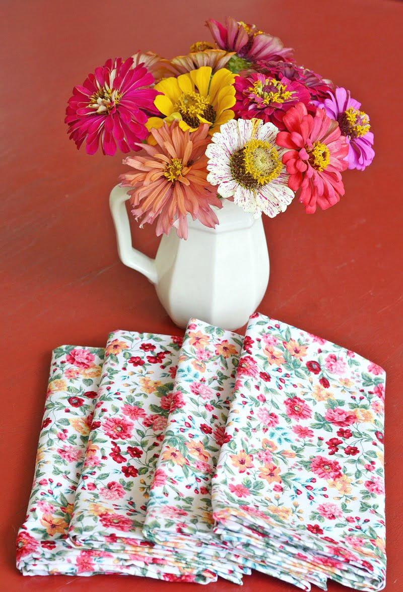 thrifty homemade cloth napkins
