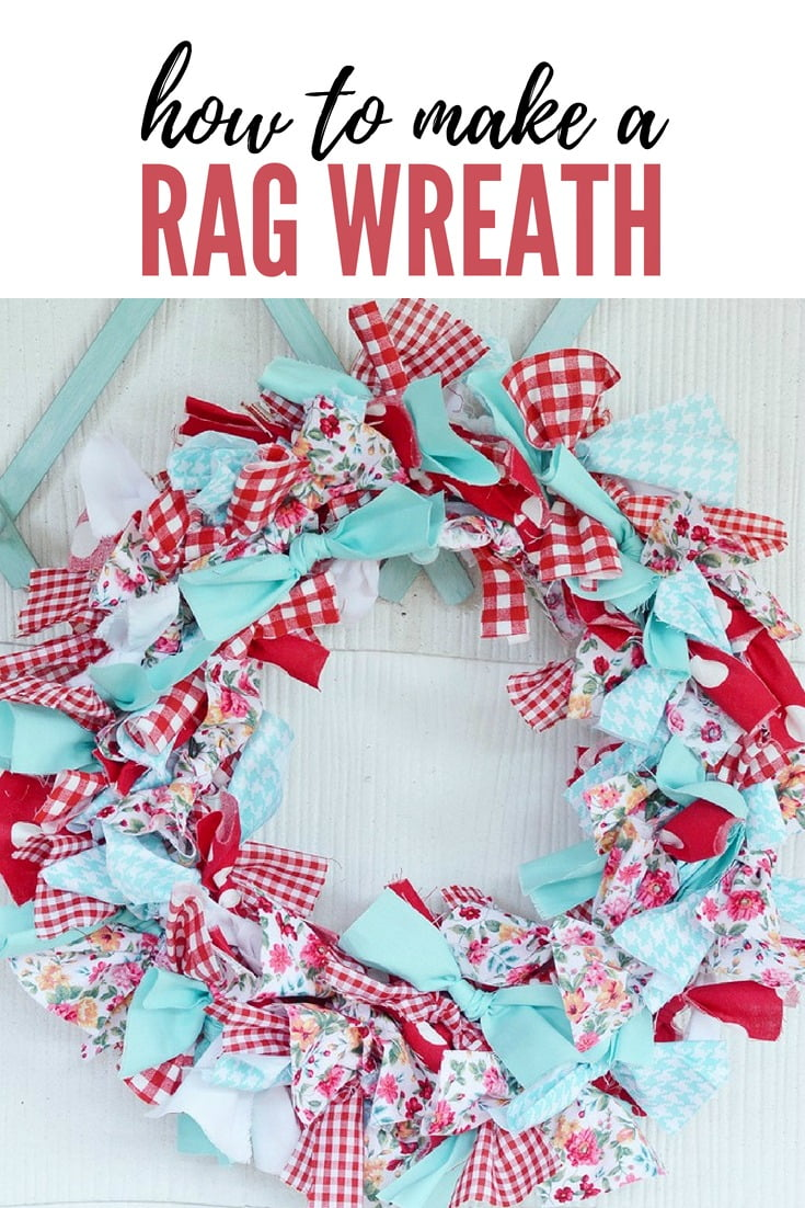 graphic with text: how to make a rag wreath