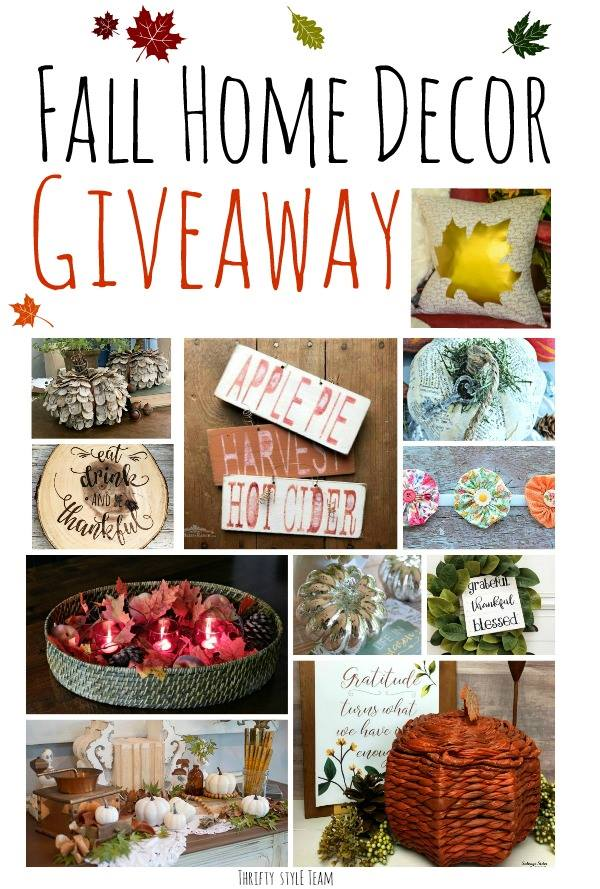 Fall Home Decor Giveaway graphic