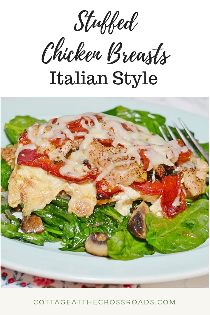 stuffed chicken breasts-Italian style