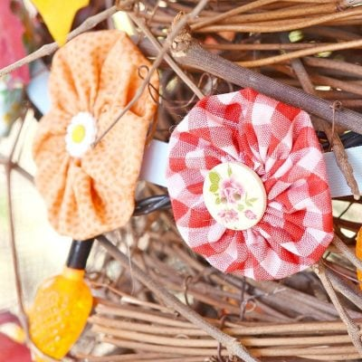 fabric yo-yo garland giveaway