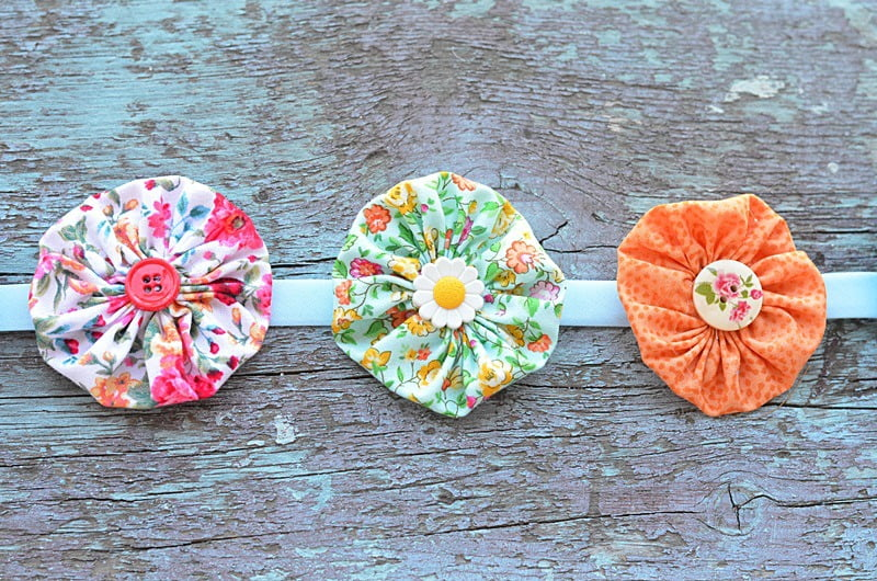 fabric yo-yo garland
