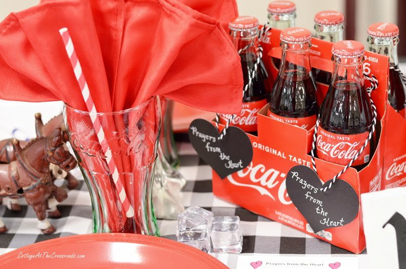 6 pack of Coca-Cola used on a tablescape
