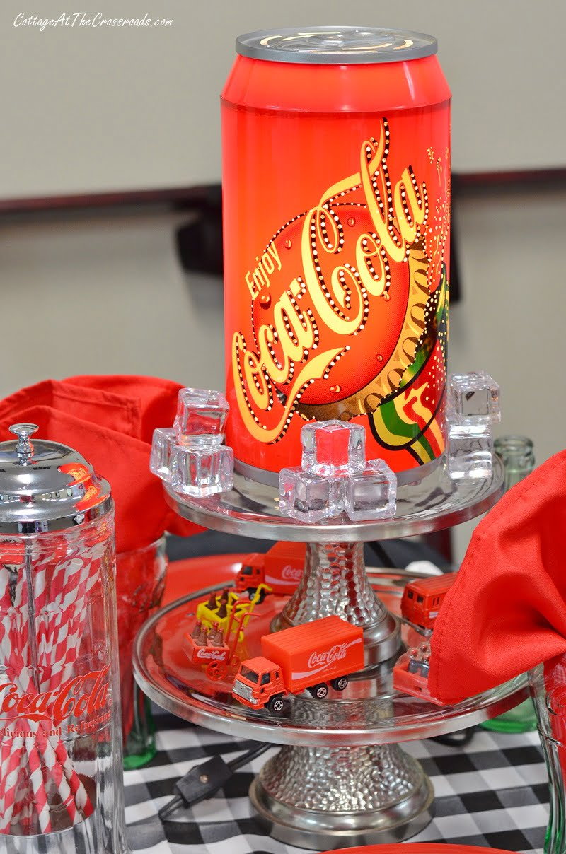 Rotating lighted Coca-Cola lamp