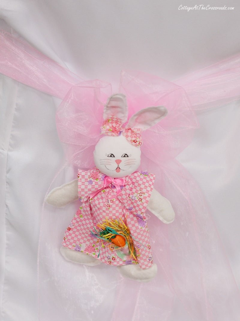 Easter bunny chair cover decoration