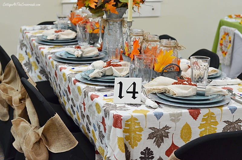 Table 14 had a farmhouse fall theme