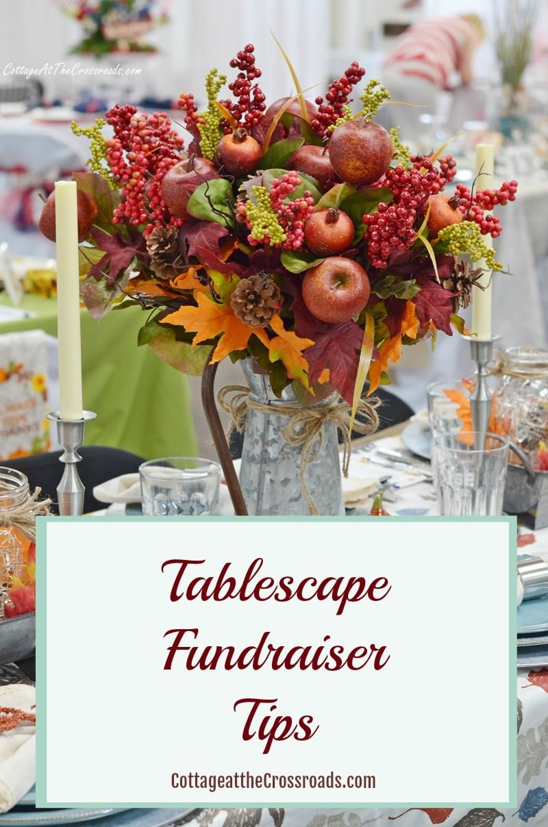 A tablescape fundraiser is a wonderful event for a church or civic organization. If your group is considering having one, check out my tips on how to organize one. #tablesettingfundraiser #tablescapefundraiser #fundraisingideas
