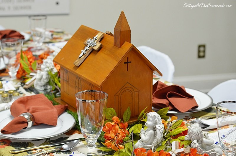 handmade church centerpiece