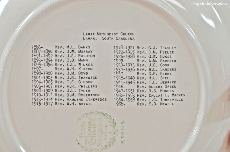 former ministers' names on the back of the LUMC plates