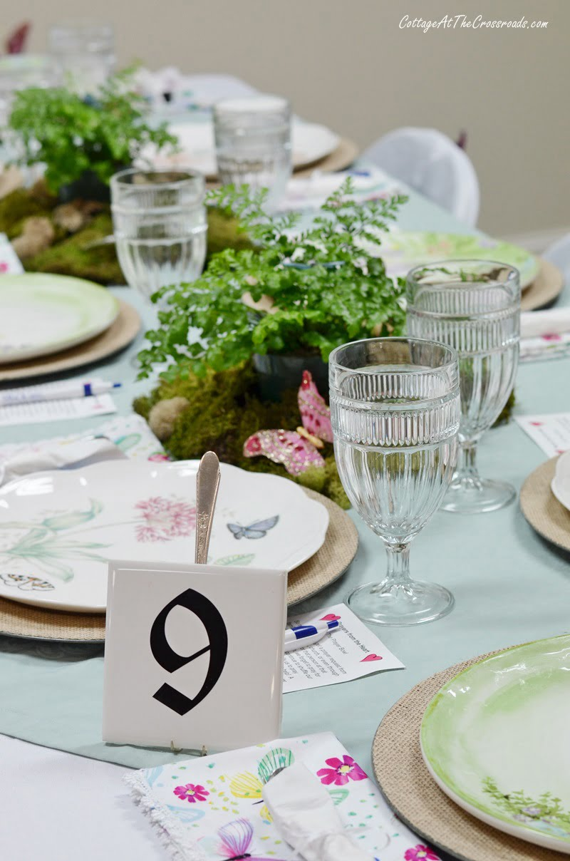 Table 9-Butterfly Meadow Tablescape