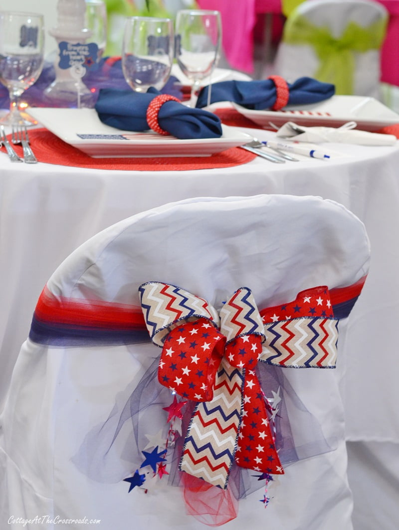 patriotic decorated chair covers