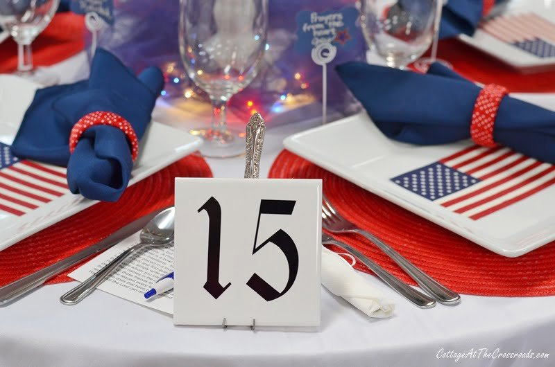Table 15 had a patriotic theme at our tablescape fundraiser