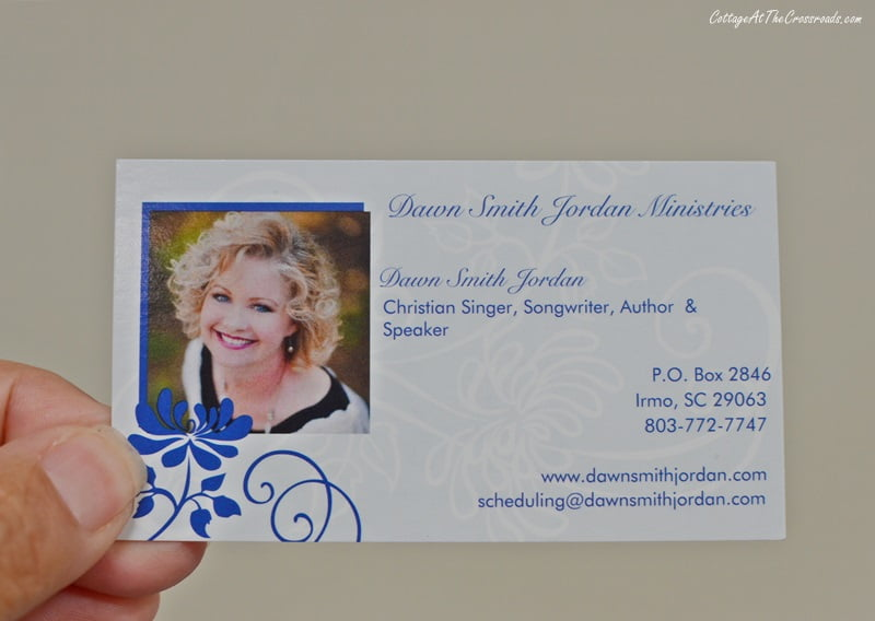 business card of Dawn Smith Jordan