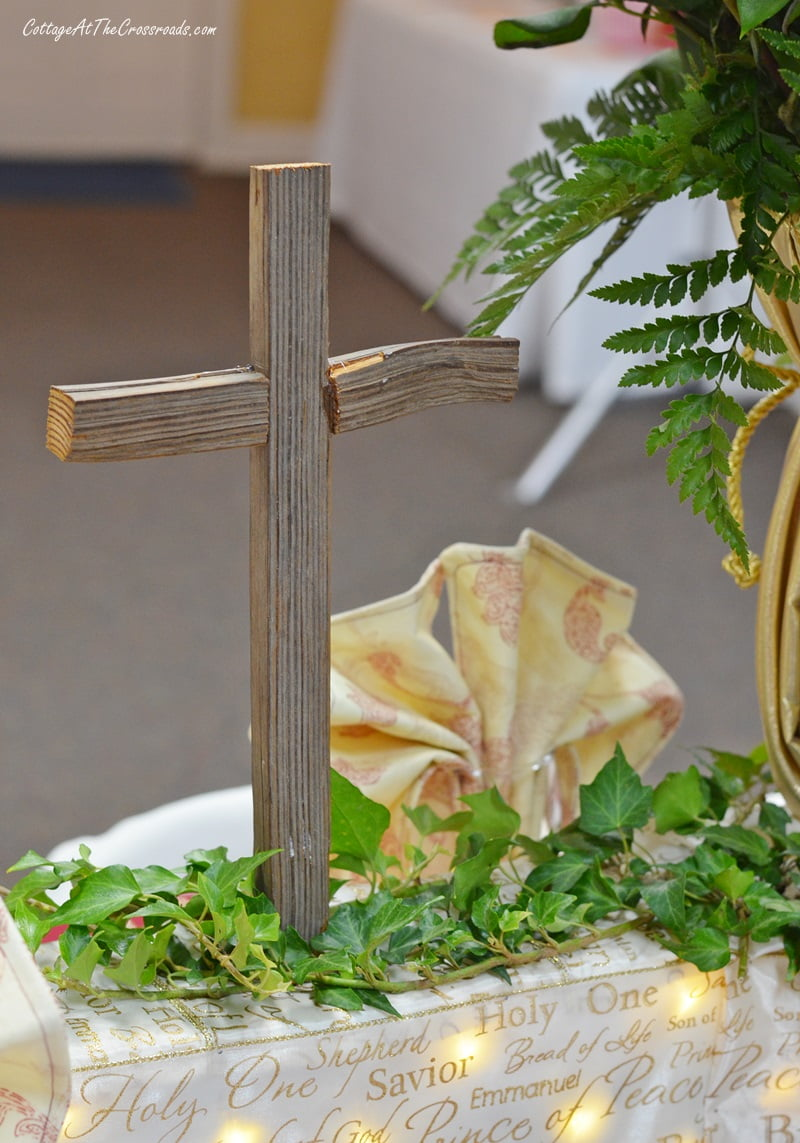 wooden cross made from a tobacco stick