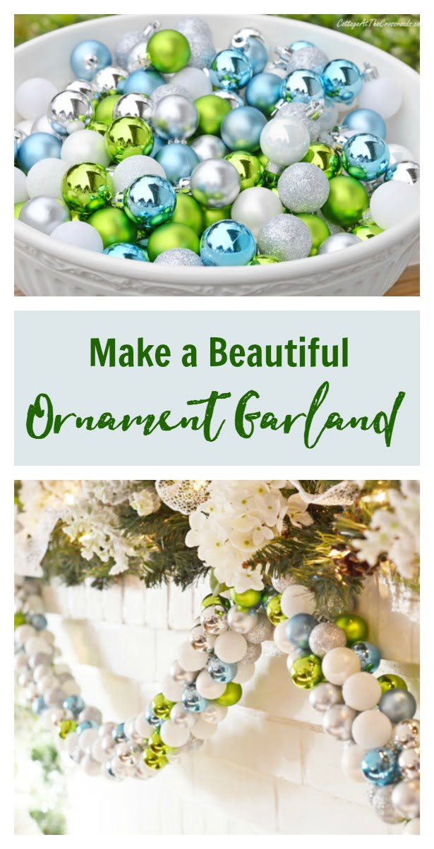 How to Make a Beautiful Ornament Garland graphic