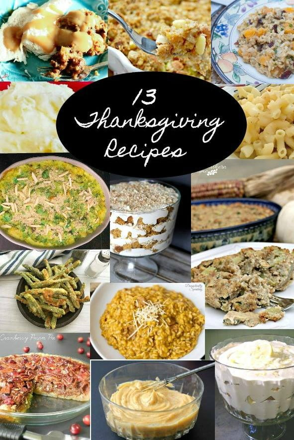 graphic with text-13 Thanksgiving Recipes