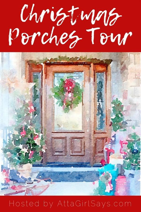 Festive Christmas Porch Tour