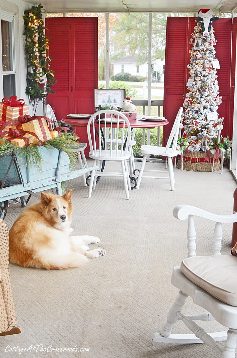 Country Cottage Christmas Front Porch