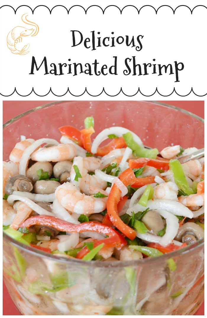 Delicious Marinated Shrimp graphic