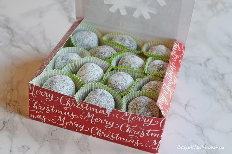 gift box of rum balls