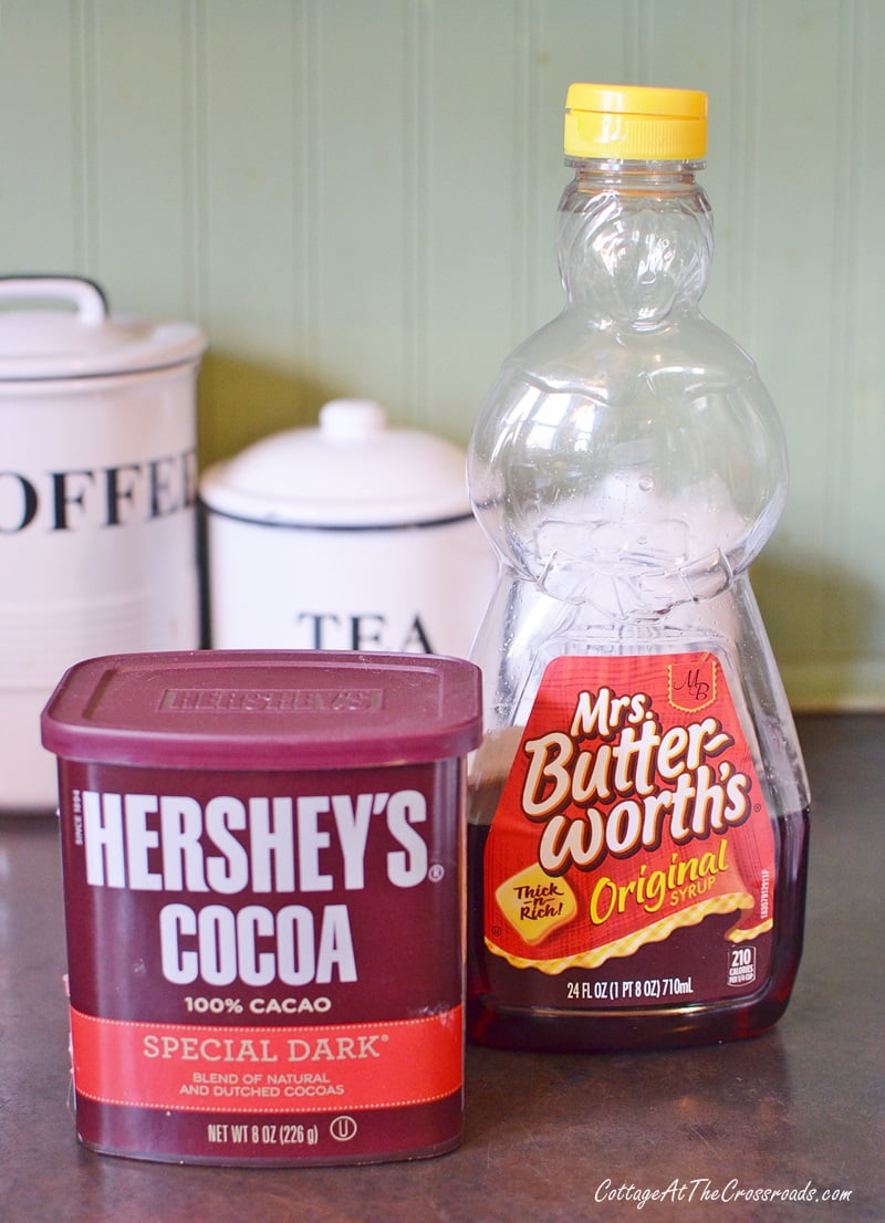 cocoa and syrup used in making rum balls