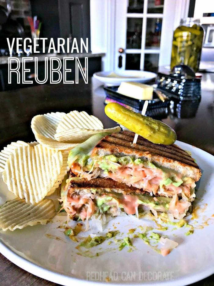 recipe for a vegetarian reuben sandwich