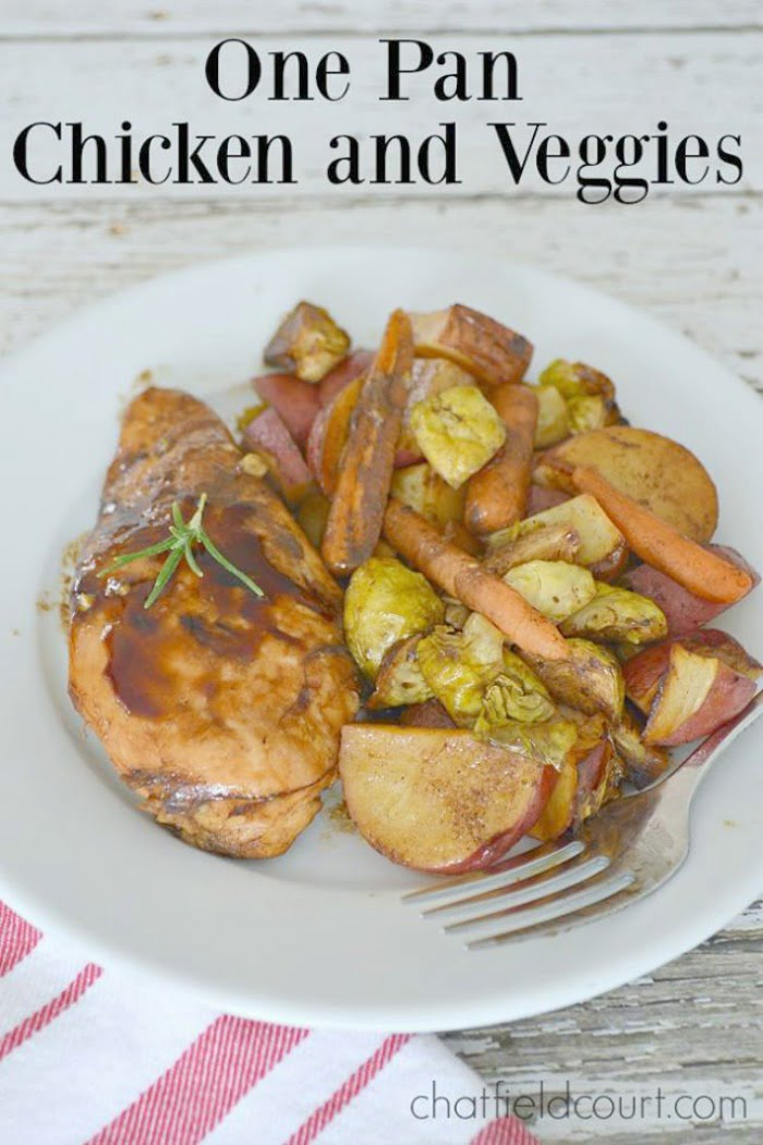 recipe for balsamic chicken and roasted vegetables