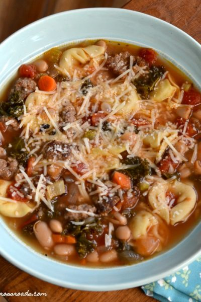 Italian Sausage and Cheese Tortellini Soup
