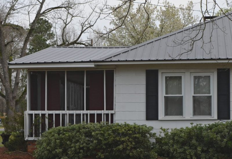 new charcoal gray metal roof