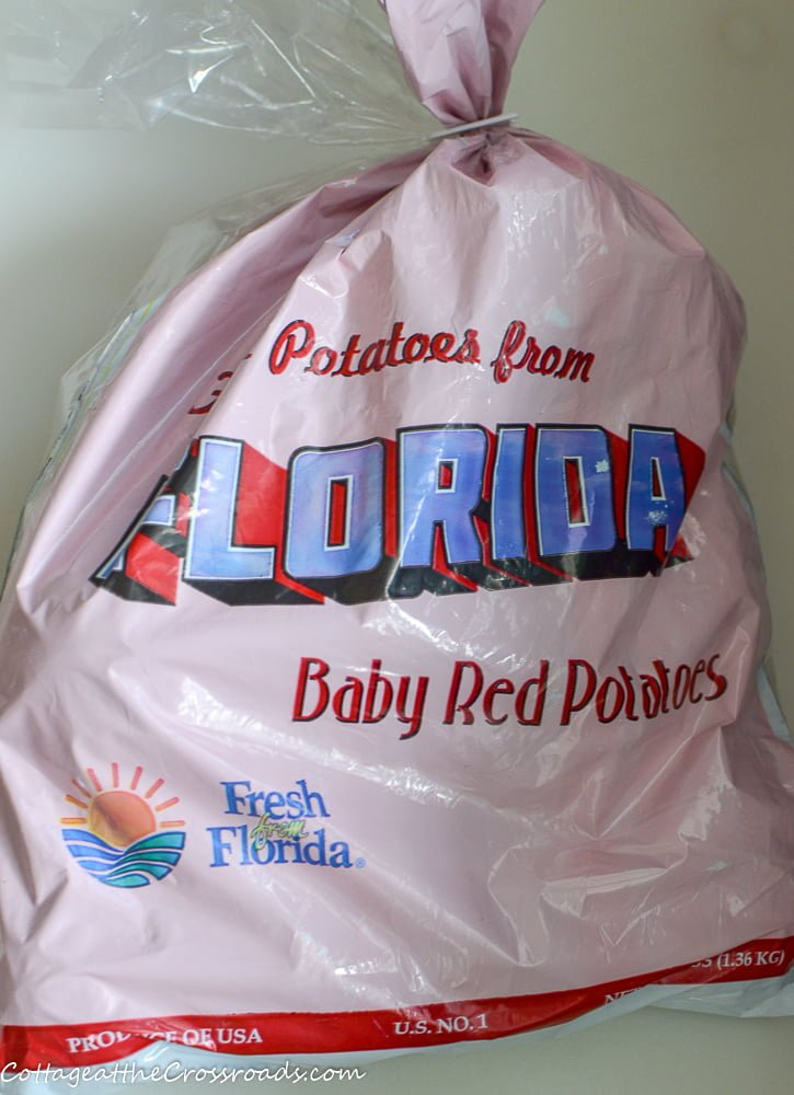 a 3 pound bag of baby red potatoes