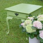 Outdoor Table Painted Green