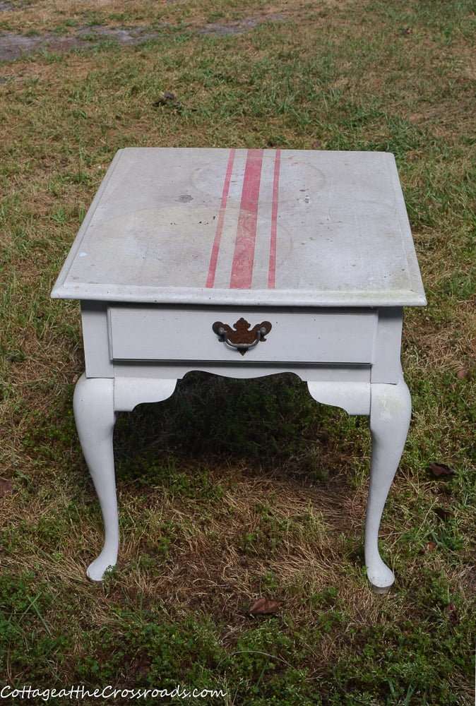 painted wooden end table