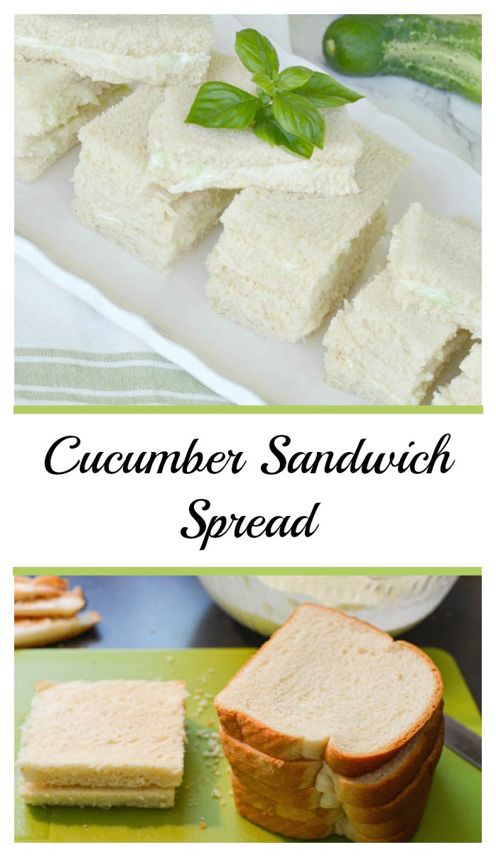 cucumber sandwich spread graphic