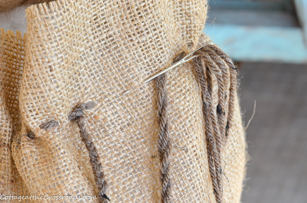 drawstring closure for cotton seed bag