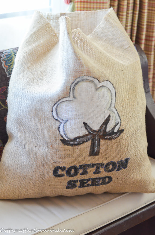 stuffed cotton seed bag