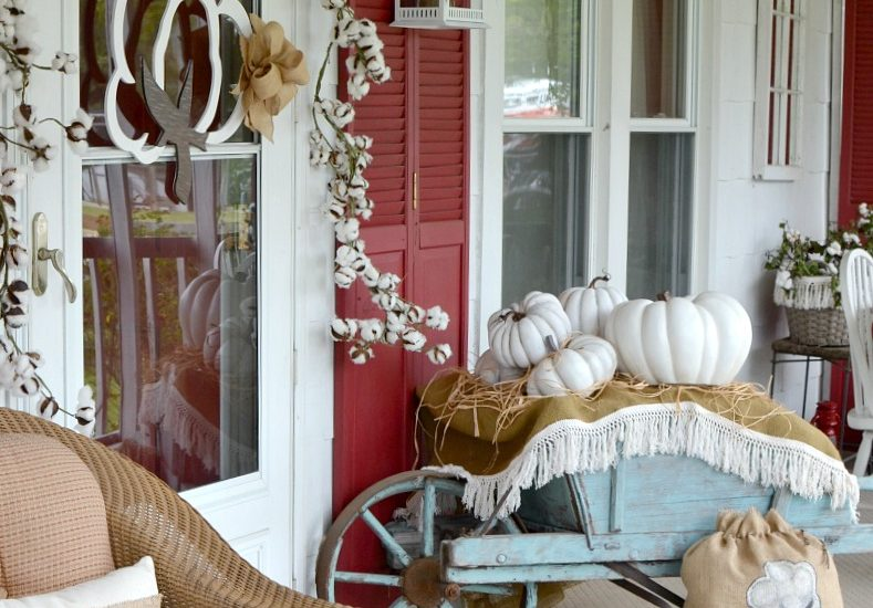 Cotton Pickin' Fall Front Porch