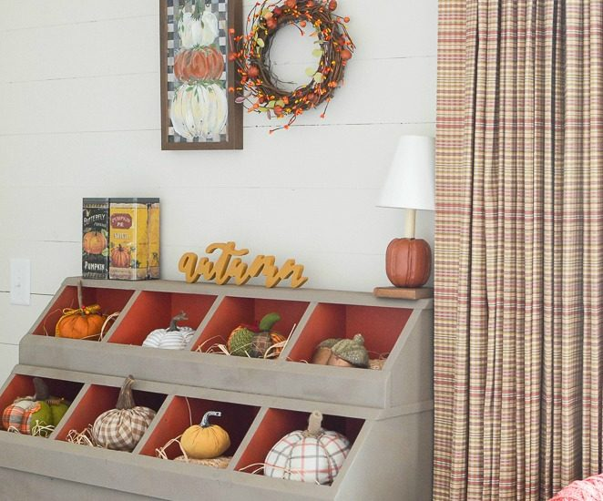 Our new mudroom all decorated for fall
