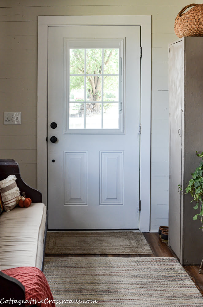 back door to mudroom